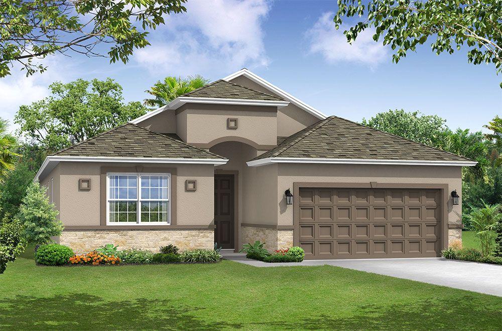 Sanibel floor plan elevation 1 exterior rendering William Ryan Homes Tampa:Sanibel - Elevation 1