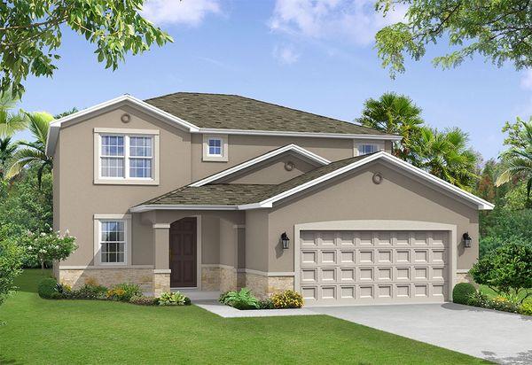 Saratoga elevation 1 William Ryan Homes Tampa:Saratoga - Elevation 1