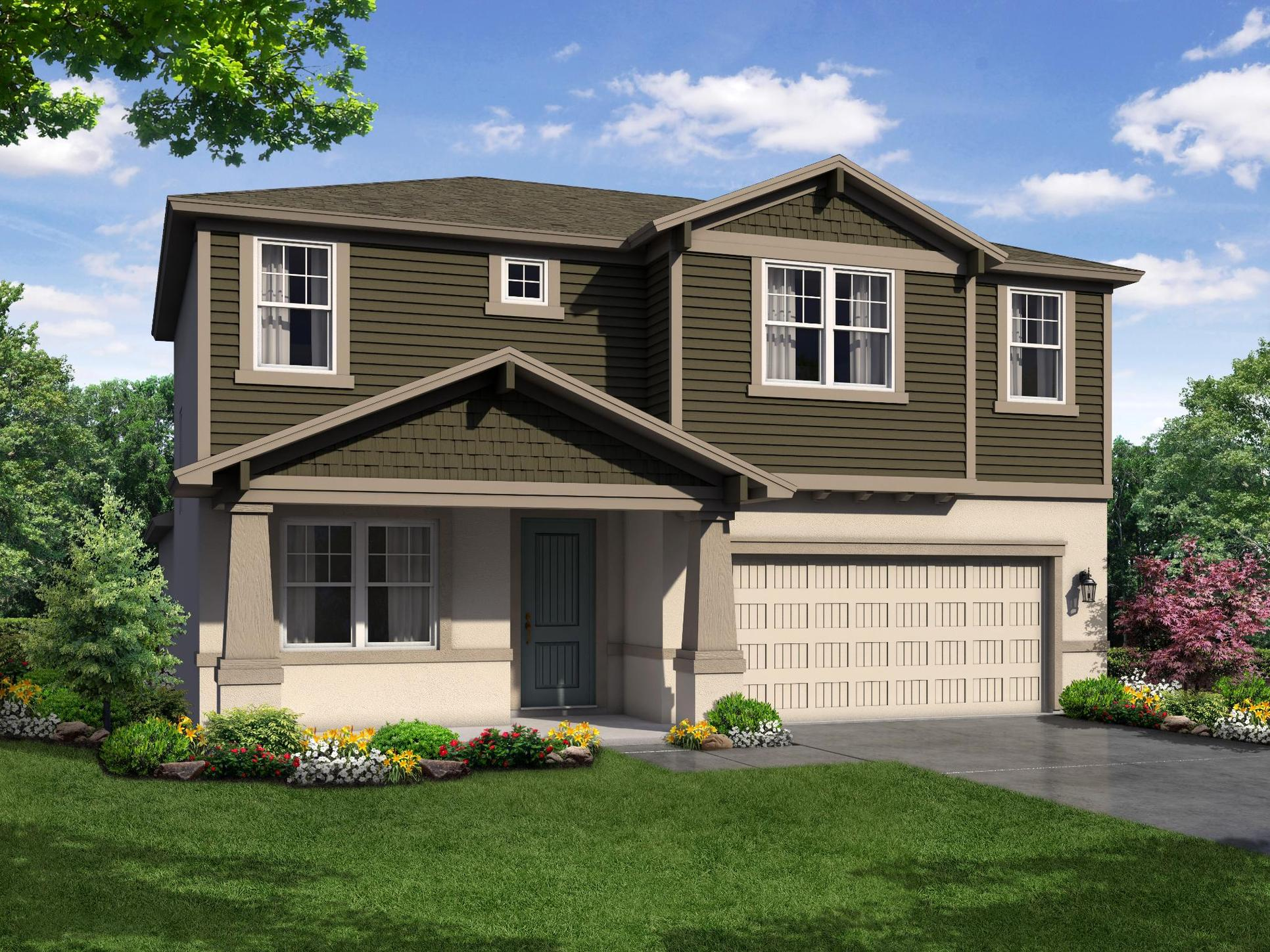 Sandalwood Craftsman elevation William Ryan Homes Tampa:Sandalwood - Craftsman Elevation