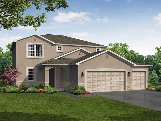 Saratoga 3 car garage elevation 1 William Ryan Homes Tampa:Saratoga 3-Car Garage - Elevation 1