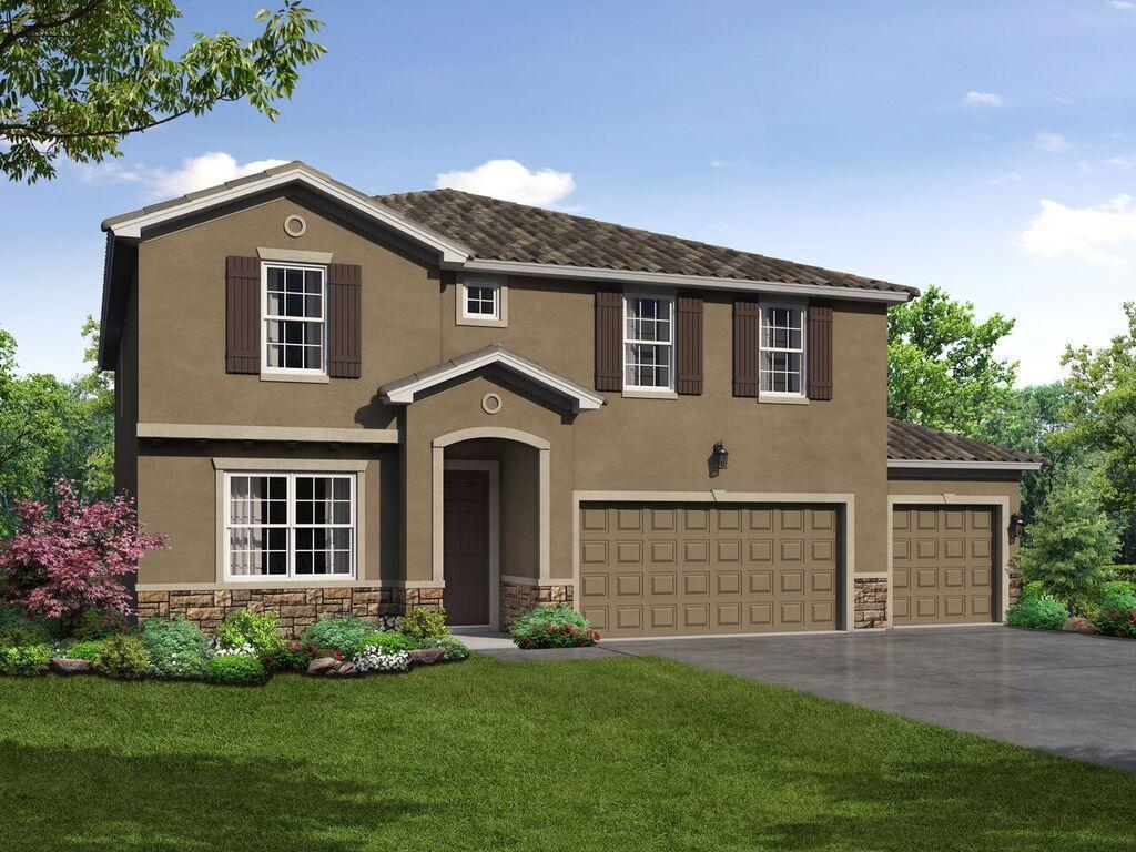 Juniper 3 car garage floor plan front elevation 1 exterior rendering William Ryan Homes Tampa:Juniper 3 Car Garage - Exterior Rendering - Elevation 1