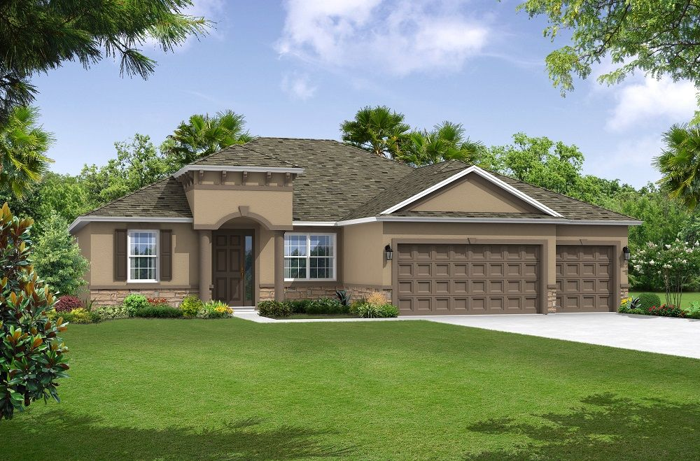 Canaveral elevation 2 William Ryan Homes Tampa:Canaveral - Elevation 2
