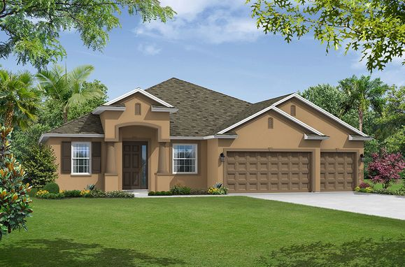 Jensen elevation 1 William Ryan Homes Tampa:Jensen - Elevation 1