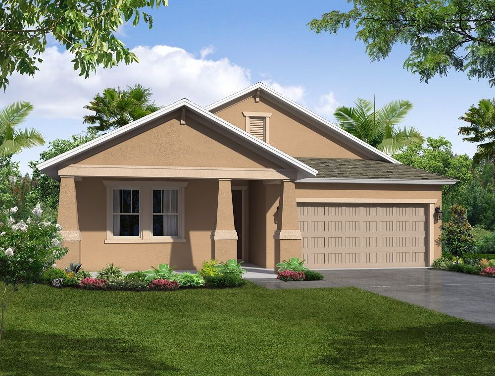 Casey Key elevation 3 William Ryan Homes Tampa:Casey Key - Elevation 3