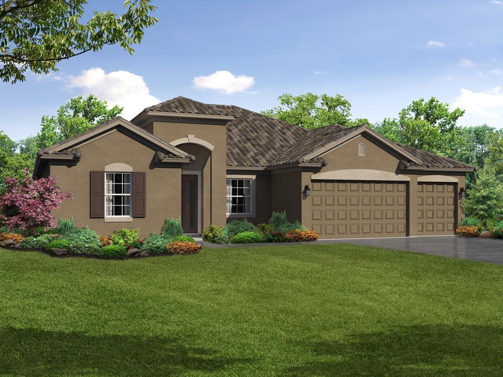 Strabane floor plan elevation 1 exterior rendering William Ryan Homes Tampa:Strabane - Elevation 1