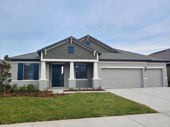 Barrington at South Fork Jensen craftsman elevation new homes for sale in Riverview FL by William...:Barrington at South Fork - Jensen - Craftsman Elevation