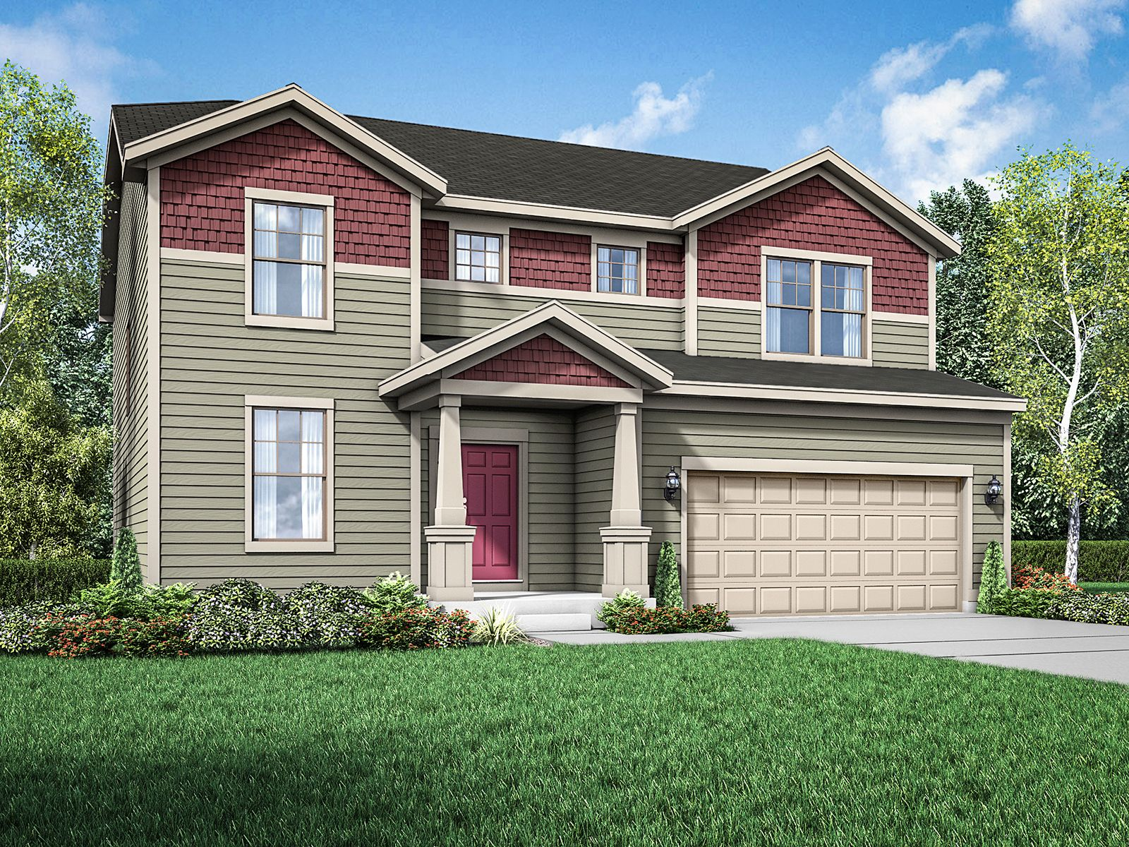 Cottage exterior elevation rendering Sulton by William Ryan Homes:Sulton - Cottage