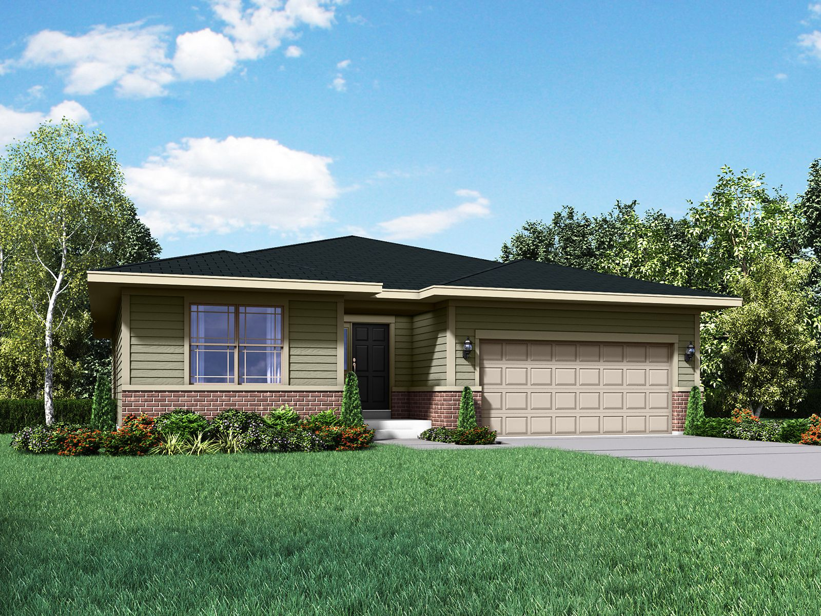 Camden Prairie exterior elevation rendering by William Ryan Homes:Camden - Prairie