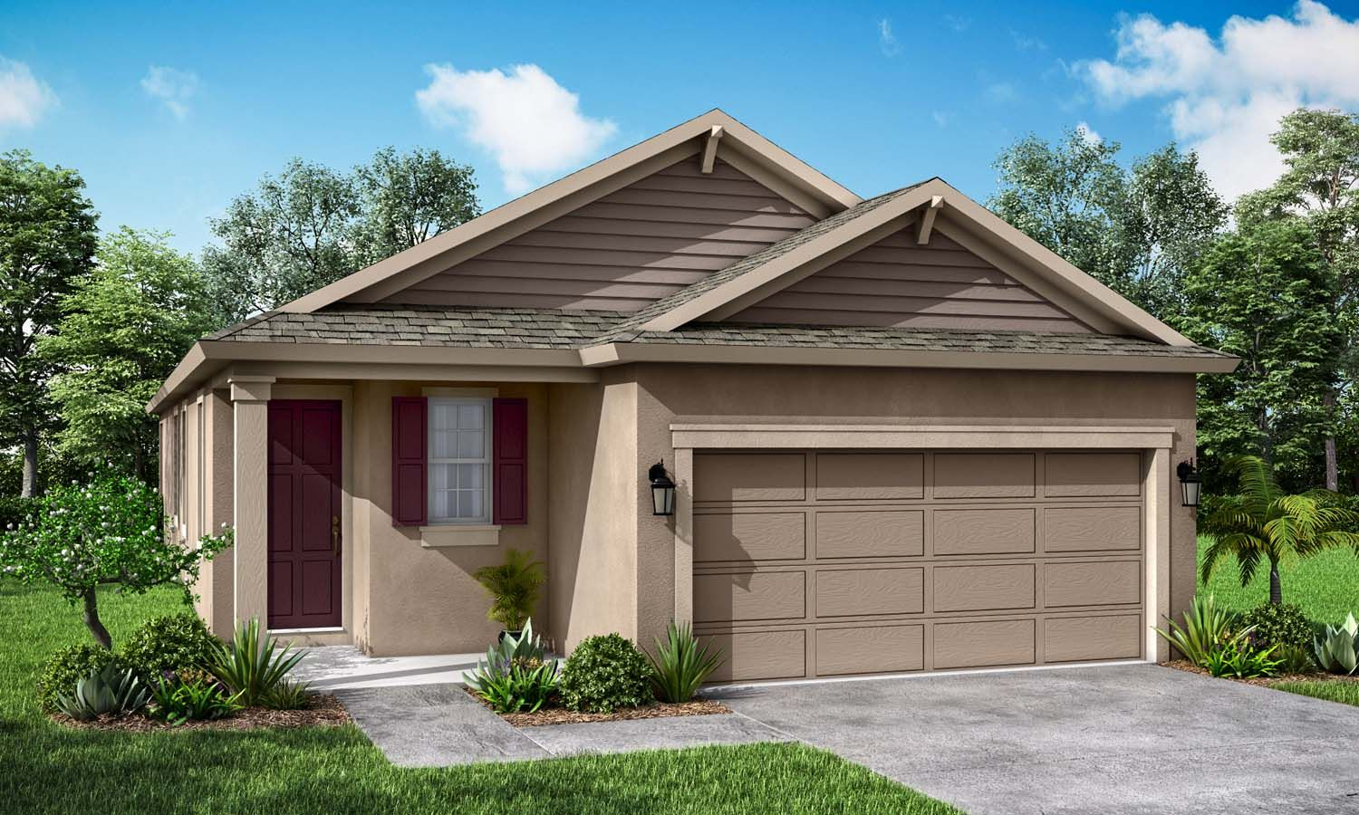 Cypress Traditional elevation available only at BridgeWater in Lakeland FL by William Ryan Homes ...:Cypress - Traditional Elevation - Available Only at BridgeWater