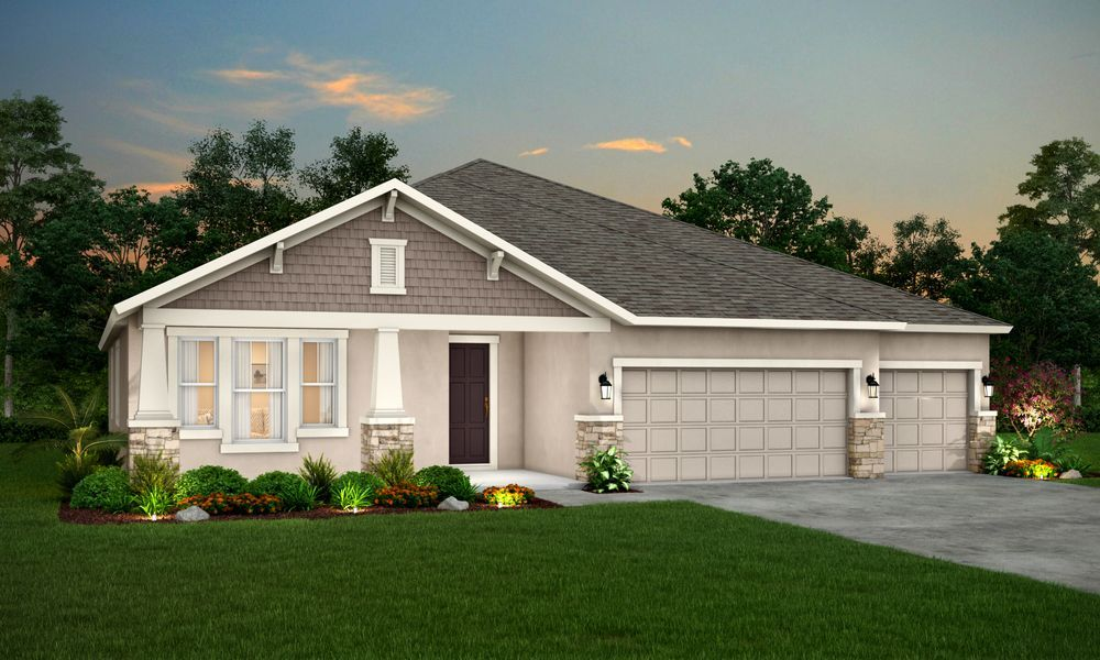 Sapphire Craftsman elevation new plan available at Whiting Estates in Spring Hill FL by William R...:Sapphire - Craftsman Elevation - New Plan - William Ryan Homes at Whiting Estates