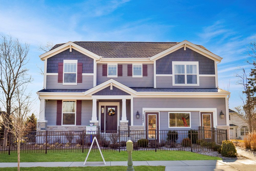 craftsman exterior Sulton new construction home for sale Bartlett Ridge in Bartlett IL by William...