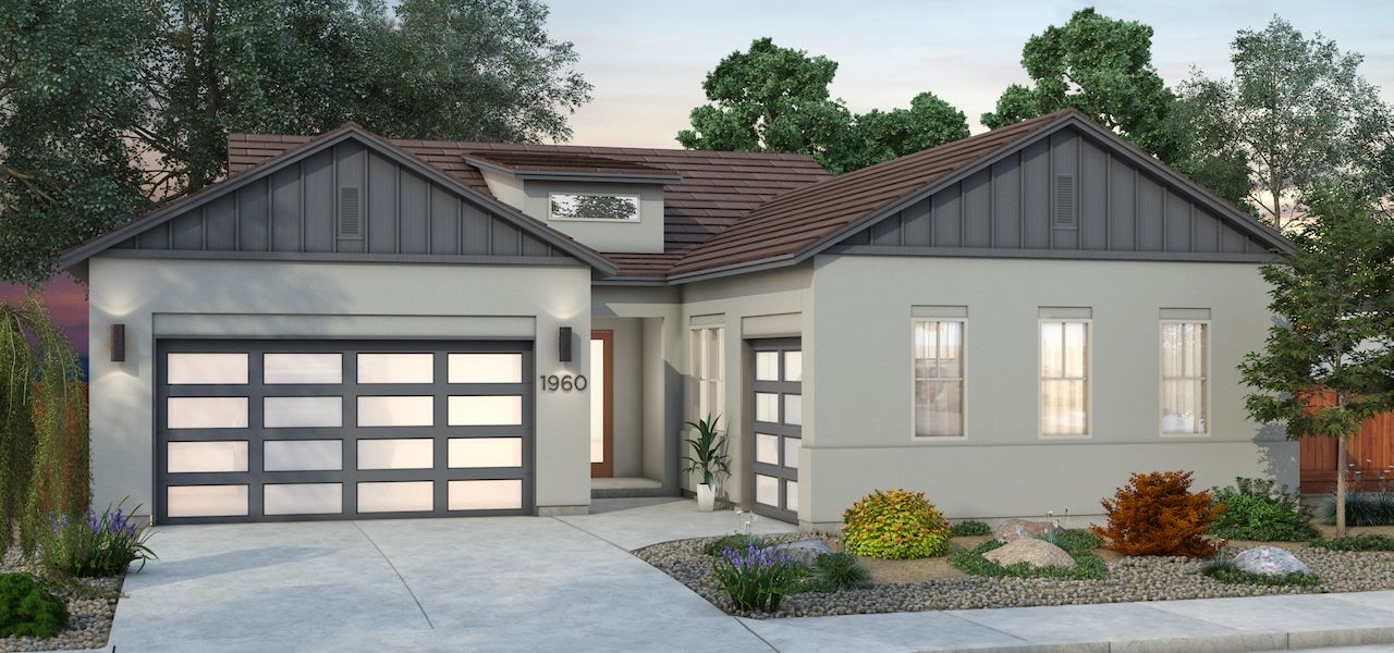 Plan 4 - Farmhouse Elevation:Color Scheme 5