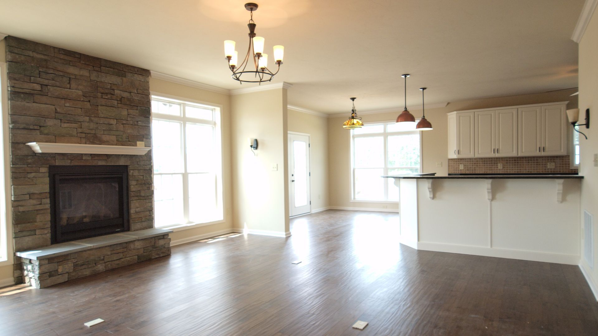 The Bayberry:Great room & Kitchen