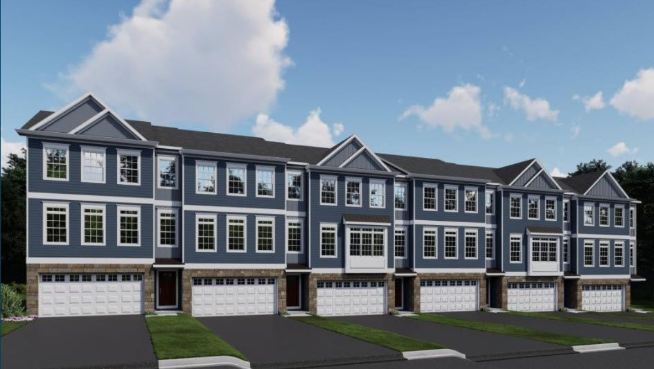 The Alexandria Townhome:Exterior rendering