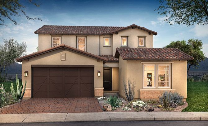 Plan 4016 Exterior B: Adobe Ranch:Exterior B: Adobe Ranch