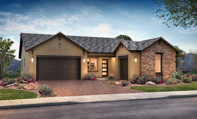 Plan 5011 Exterior C: Hill Country:Exterior C: Hill Country