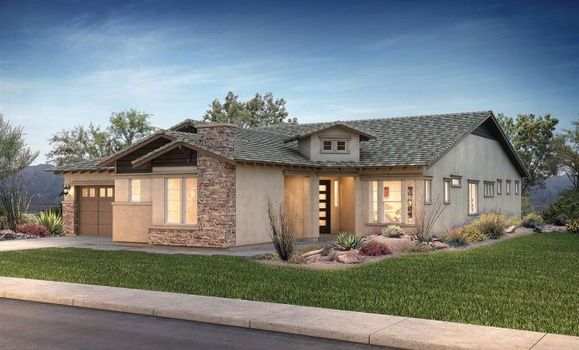 Evolve at Cantilena Flourish Plan 5581 Contemporar:Exterior D: Contemporary Craftsman