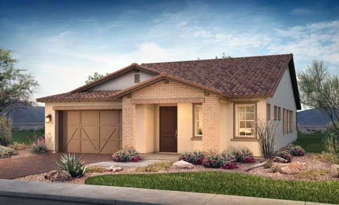 Plan 4014 Exterior B: Adobe Ranch:Exterior B: Adobe Ranch