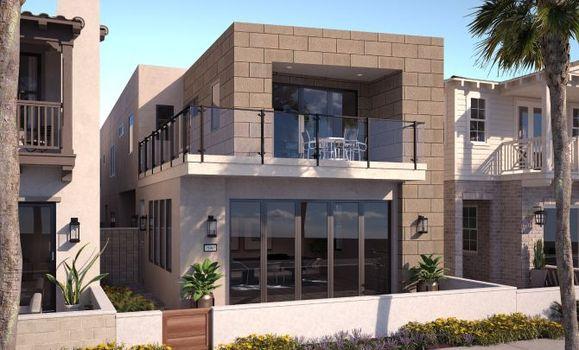 Ocean Place Plan 2B Contemporary Exterior Renderin:Plan 2B Contemporary