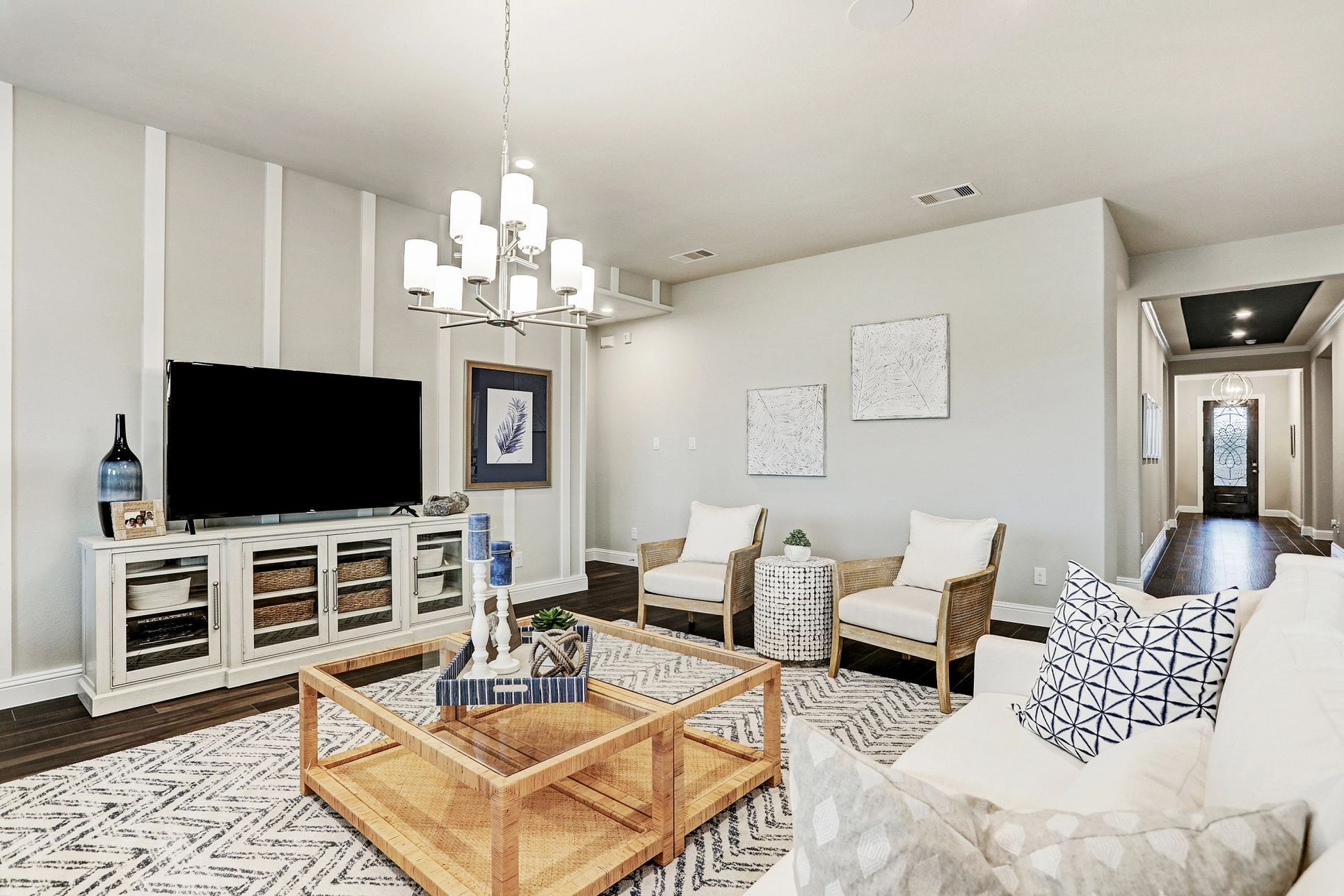 Plan 5029 Living Room Modeled at Del Bello Lakes