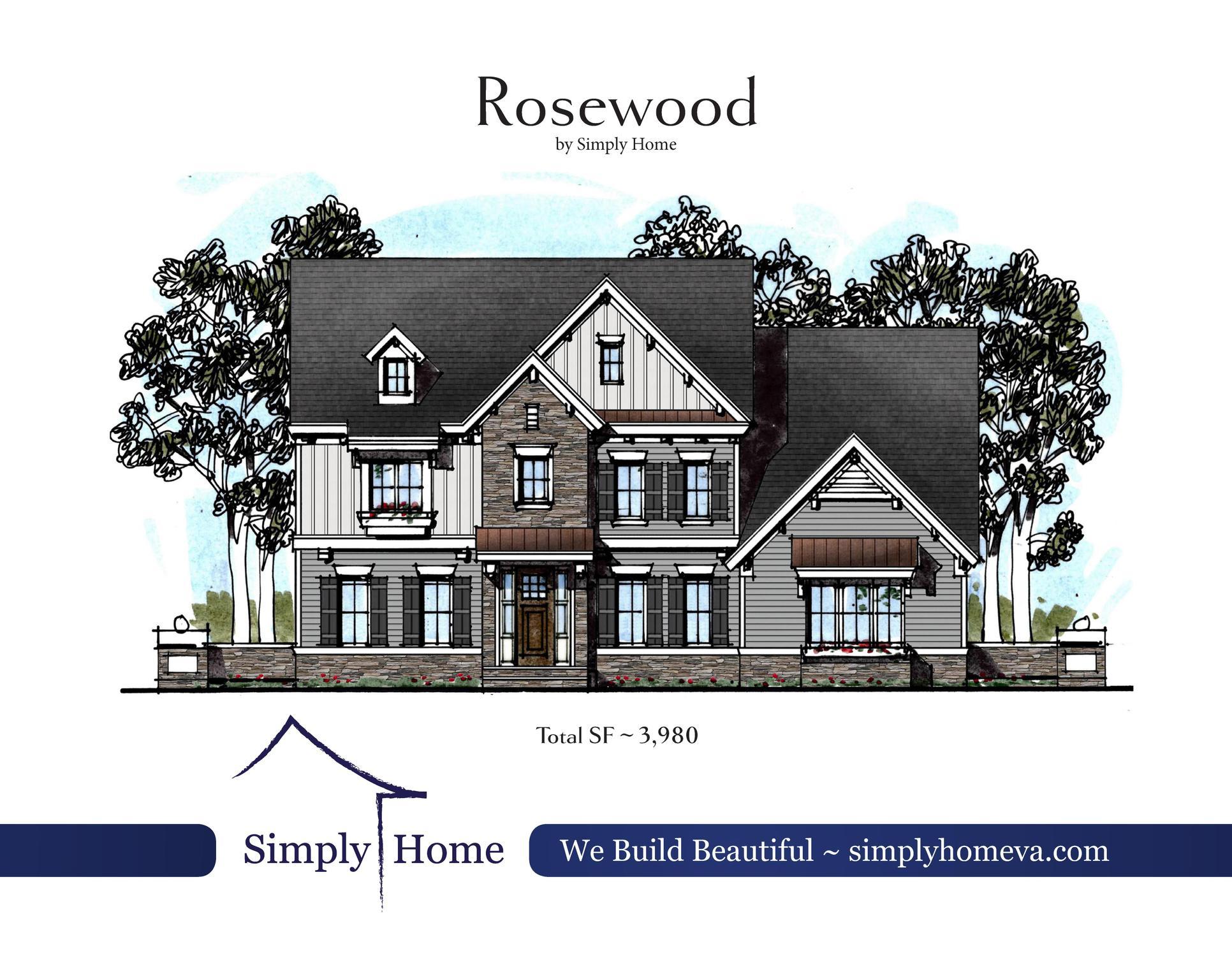 Rosewood Elevation A:Rosewood Elevation A