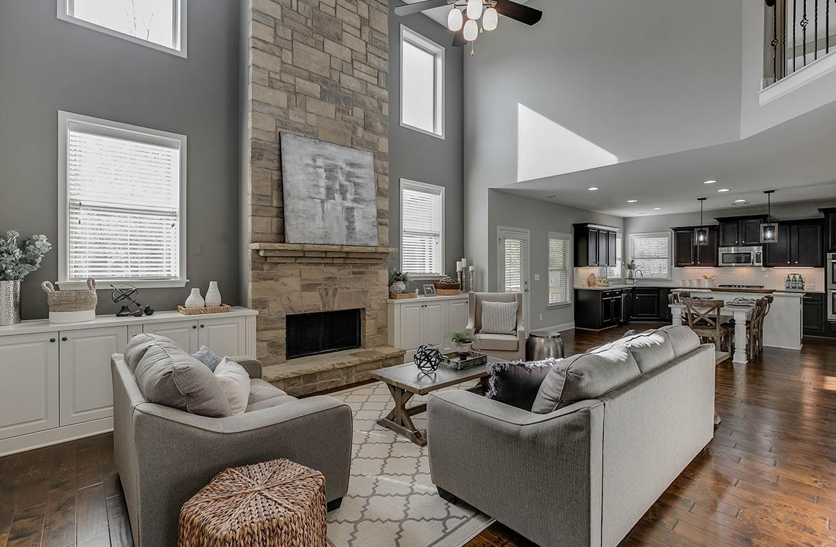 Large Stone Fireplace in Great Room