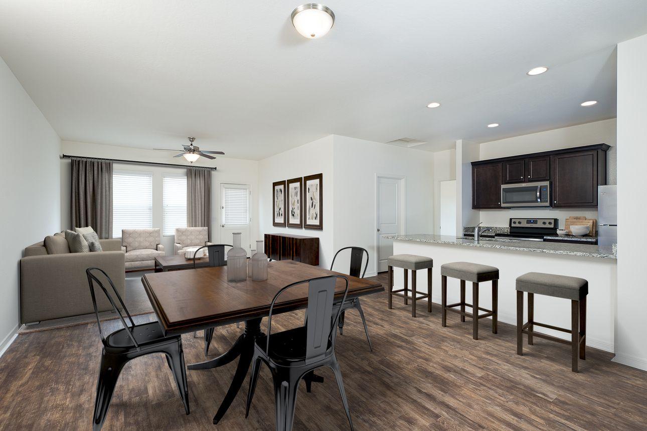 Interior:Larissa Larissa Kitchen and Dining and Living Room