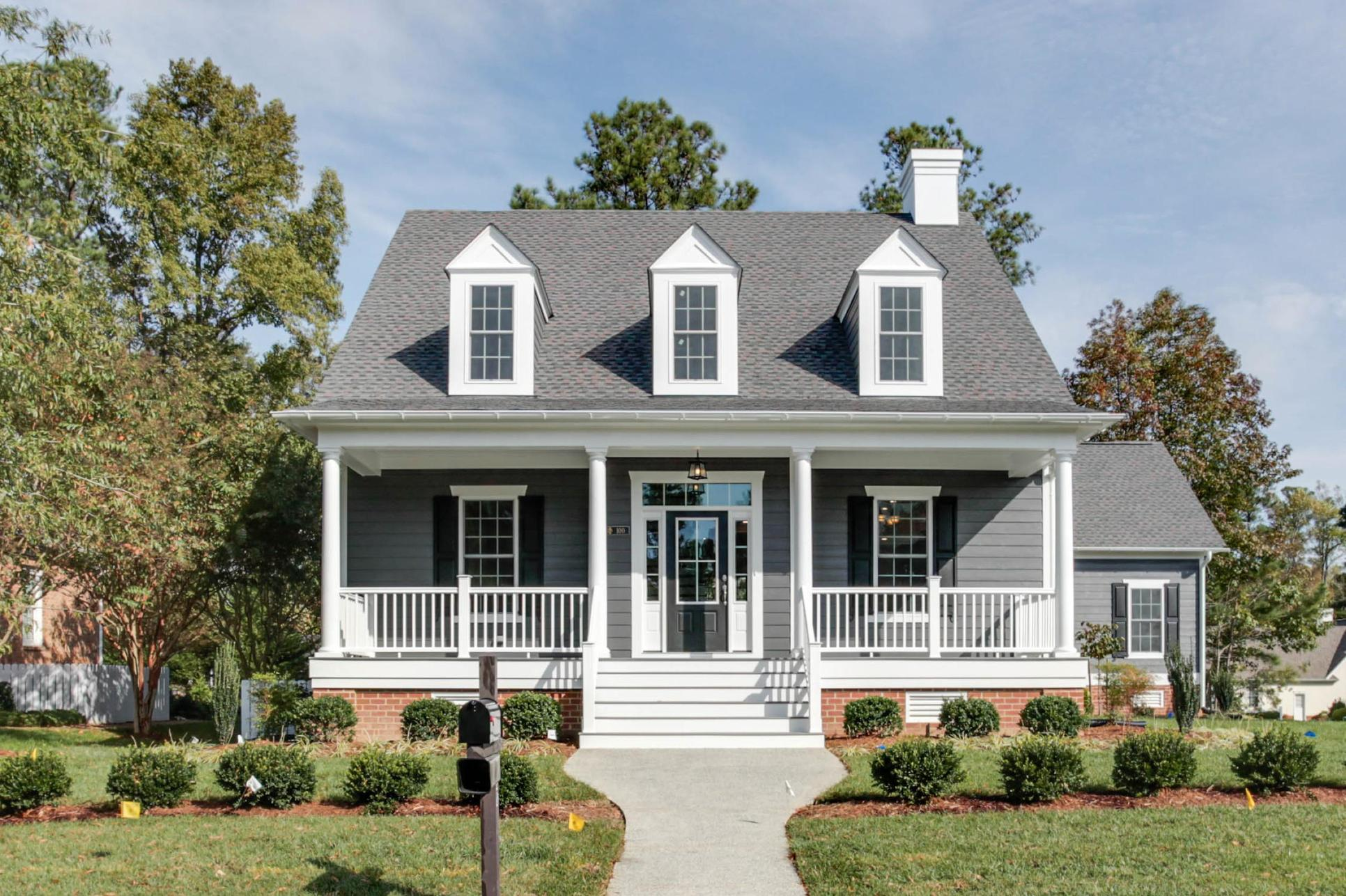 Exterior:Elevation A with Optional Front Porch