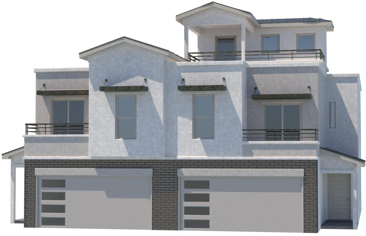 Duplex with deck