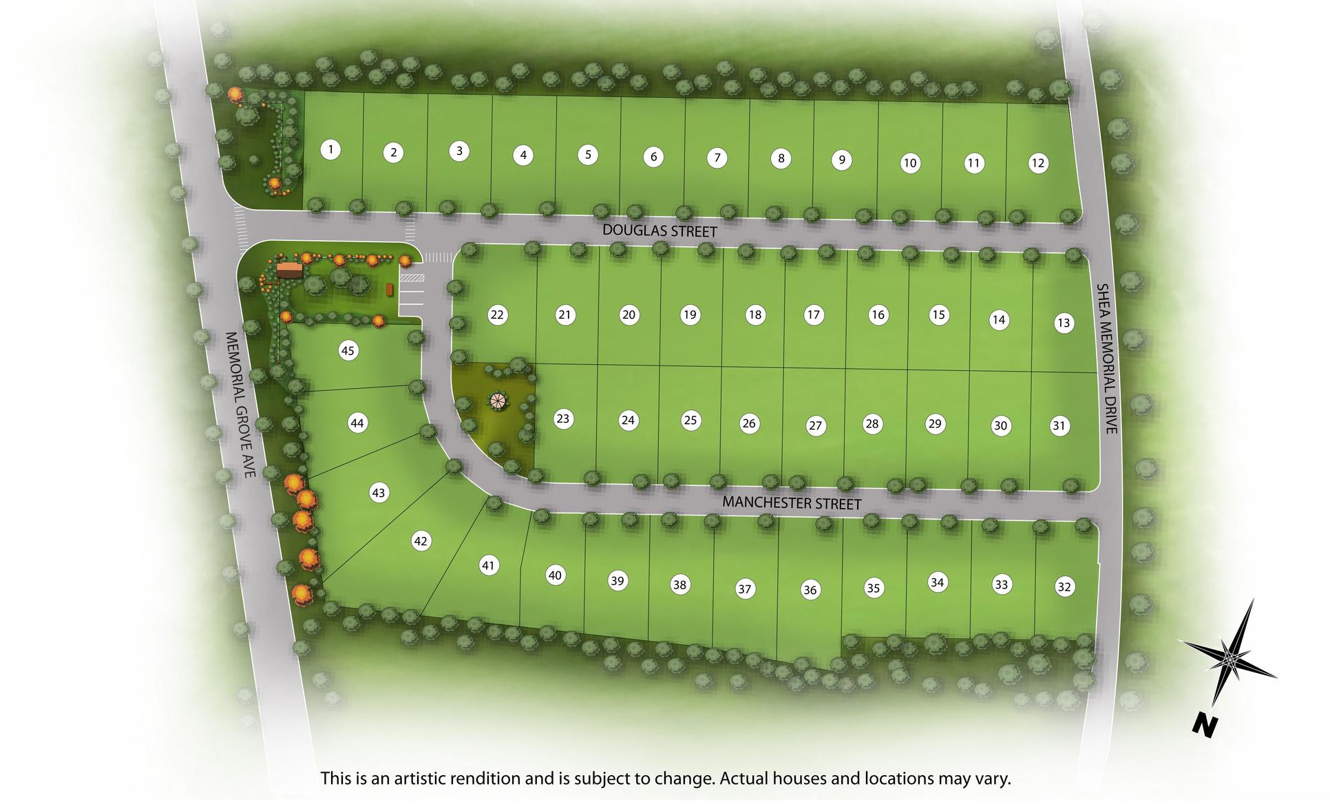Site Plan :NOTE: This is a Rendering. Subject to Change.