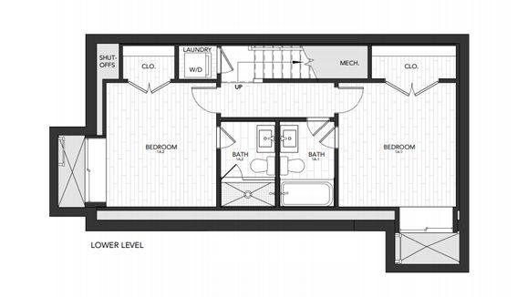 Building 1 Unit A:Lower Level