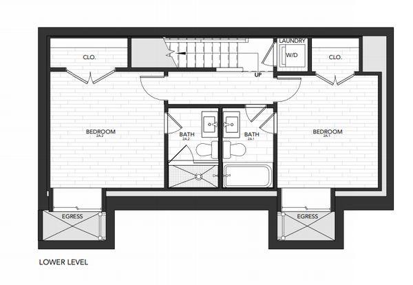 Building 2 Unit A:Lower Level