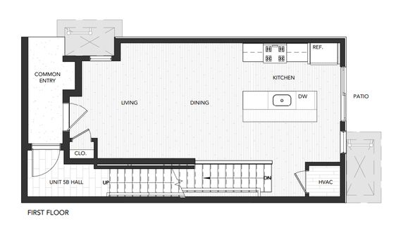 Building 5 Unit A:First Floor