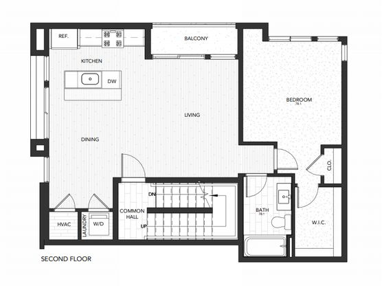 Building 7 Unit B:Second Floor