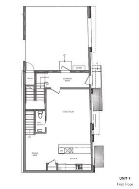 1745 Randolph unit 1:First Floor
