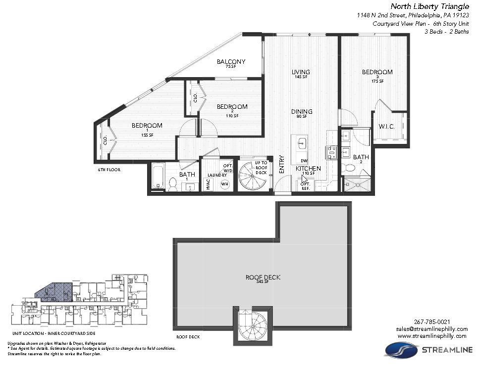 1149 6B Courtyard:Floor plan