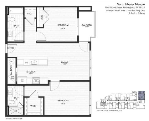 2 liberty north:Floor Plan