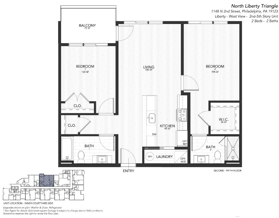 4 LIBERTY WEST:Floor plan