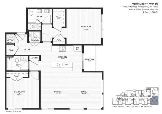 2 avenue:Floor Plan