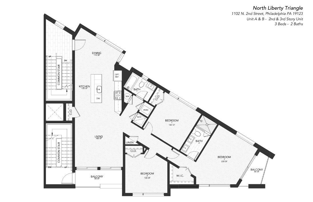 1102 A and B:Floor Plan