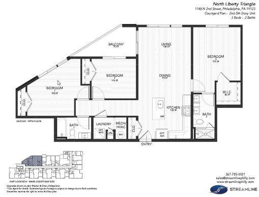 3B - Courtyard:Floor plan