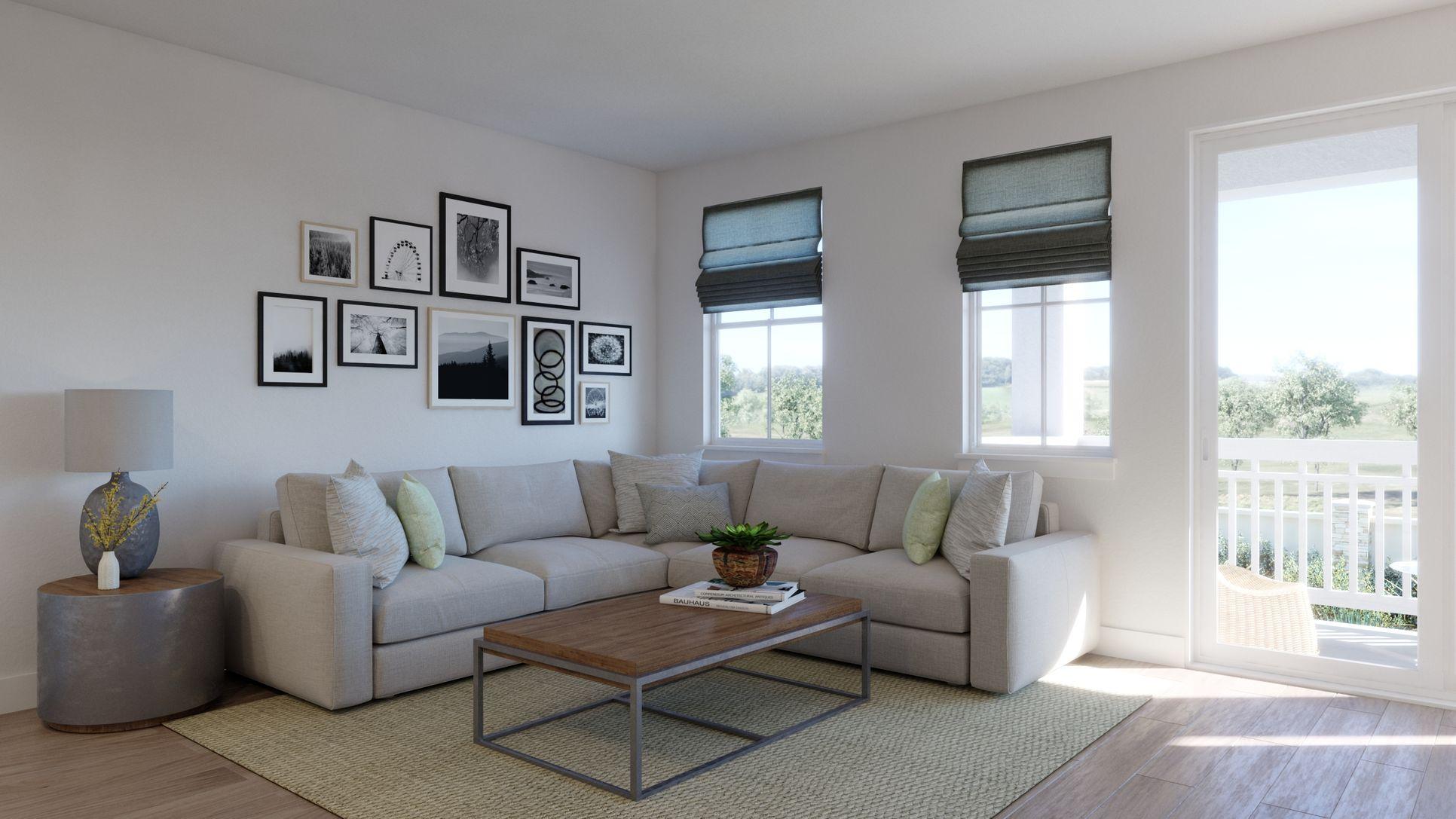 Portico Plan 1:Living Room