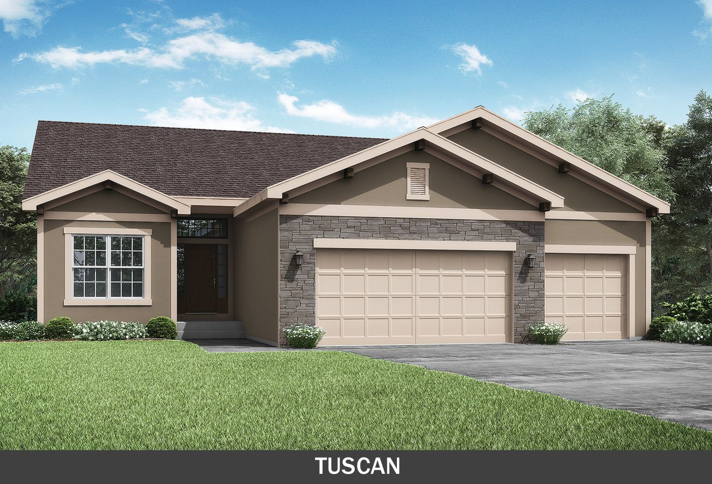 Summit Custom Homes KC:Linden Tuscan Elevation