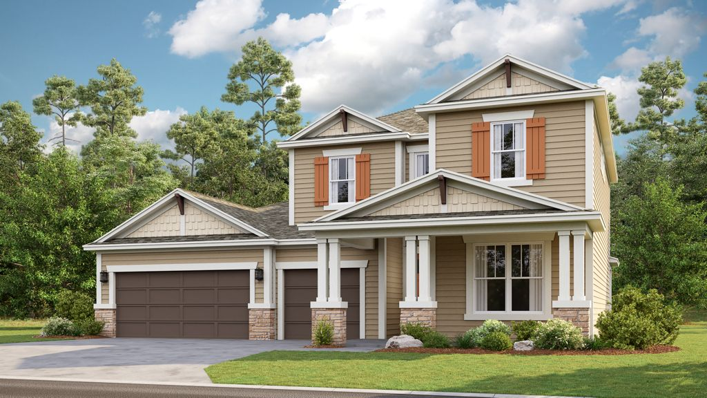 Coron, 2-story home, 3 car garage, stone accent