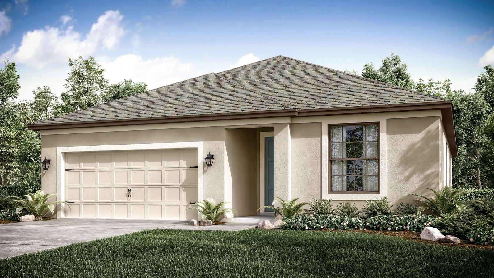 Cayman Included Elevation, stucco, 1-story