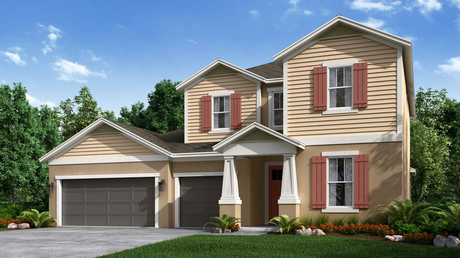 Caladesi Craftsman Elevation A