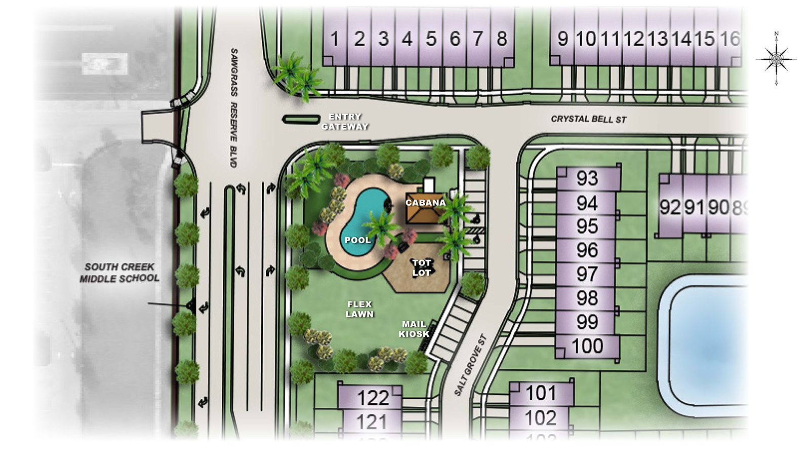 Woodland Park Townhomes Amenity Plan