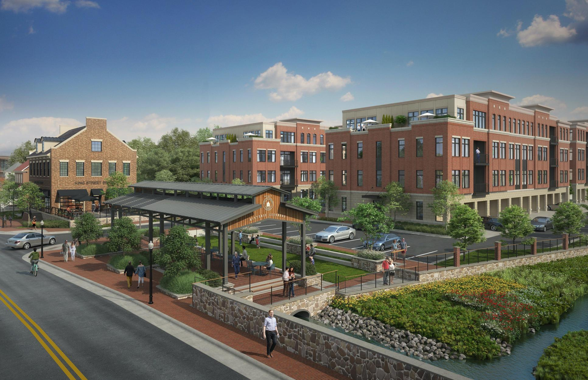 King Street Station Community Exterior:Stylish brick exteriors create the perfect welcome to King Street Station.