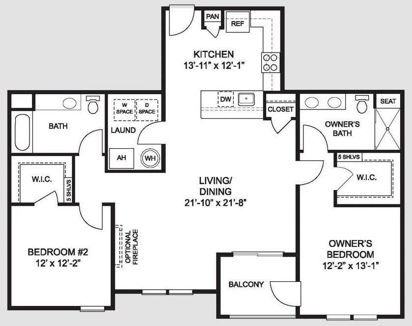 The Abigail:Floorplan