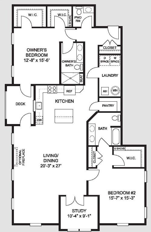 THE DARLINGTON:Floorplan